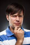 Inquisitive man Stock Image