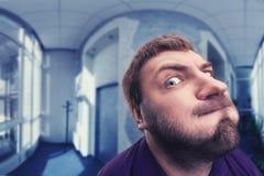 Inquisitive man Stock Image
