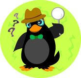 Inquisitive Penguin Detective Royalty Free Stock Images