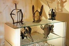 Inquisitors masks, Ruedesheim, Rheinland-Pfalz. Inquisitors masks in Ruedesheim in Rheinland-Pfalz, Germany stock image