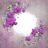 Inrama av blommor Royaltyfria Foton