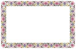 Inrama av blommor stock illustrationer