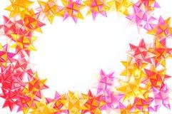 Inrama av handgjorda färgrika band Royaltyfri Bild
