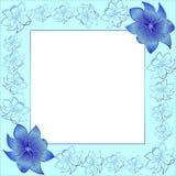 Inrama med blommor stock illustrationer