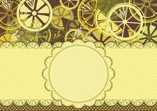 Inrama med citroner Arkivfoton