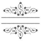 Inrama med monograms för design och dekorera. Arkivfoto