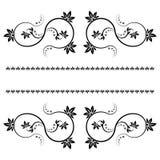 Inrama med monograms för design och dekorera. Royaltyfri Fotografi