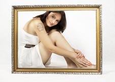 Inramad flicka Royaltyfri Bild