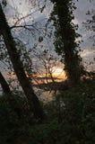 Inramad solnedgång Fotografering för Bildbyråer