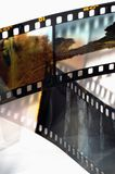 Inramar av glidbanan filmar Arkivfoton
