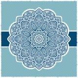 Inramar indiskt dekorativt för blått vektor illustrationer