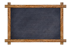 Inramat tappningträ kritiserar den svart tavlan royaltyfri foto
