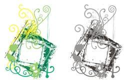 inramnin dekorativ grunge Royaltyfria Bilder