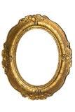 inramnin den gammala ovalen för guld Arkivfoton