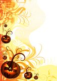 inramnin den halloween vektorn Royaltyfria Foton