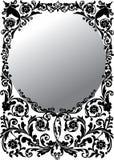 inramnin den runda gråa illustrationen Royaltyfri Fotografi