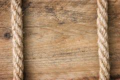 Inramnin gjort av gammalt rep Arkivfoto