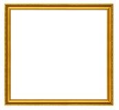 inramnin guld- arkivbild