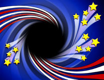 inramnin patriotisk stjärnaswirl w vektor illustrationer