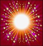 inramnin skyttestjärnor royaltyfri illustrationer