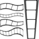 inramniner curvy lätt redigerbar filmstrip för 35mm bakgrund isolerad filmwhite Royaltyfri Foto