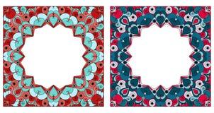 inramniner dekorativa två Arkivbild