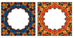 inramniner dekorativa två Fotografering för Bildbyråer