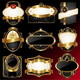 inramniner den guld- utsmyckade vektorn royaltyfri illustrationer