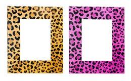 inramniner leoparden Arkivfoton