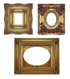 inramniner utsmyckad tappning för guld Royaltyfri Foto