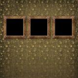 inramniner victorianen för gammal stil för guld Arkivbild