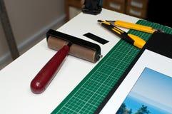 Inramning och montera hjälpmedel Arkivfoto