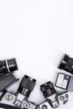 inramning photojournalism för utrustning Arkivfoto