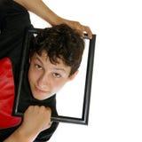 inramning pojke Fotografering för Bildbyråer