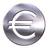 inramning teckensilver för valuta 3d euro stock illustrationer