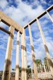 inramning vägg för konstruktion arkivfoto