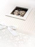 inramnintt gift fotobröllop för album par royaltyfri fotografi