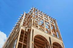 inramnintt hus för konstruktion Royaltyfria Bilder
