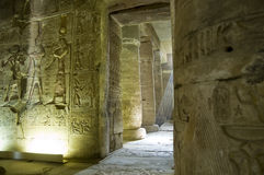 Inre Abydos tempel, Egypten arkivbild