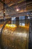 Inre arbeten av det Klocka tornet i Bruges Royaltyfria Bilder