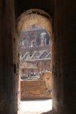 Inre arkitektur av Colosseum, Rome Royaltyfri Bild