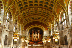 Inre arkitektur av konst- & gallerimuseet i Glasgow Royaltyfria Foton