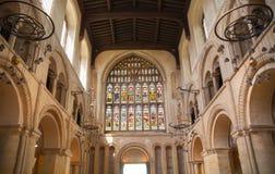 Inre av århundradet för th för Rochester slott 12 Slotten och fördärvar av befästningar Kent sydostliga England Royaltyfria Bilder