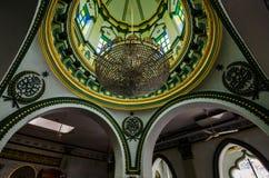 Inre av Abdul Gaffoor Mosque Royaltyfri Fotografi