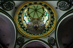 Inre av Abdul Gaffoor Mosque Arkivbilder