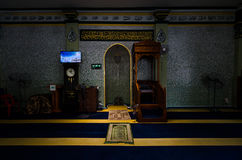 Inre av Abdul Gaffoor Mosque Arkivfoton