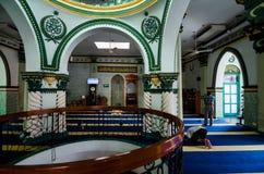Inre av Abdul Gaffoor Mosque Arkivfoto