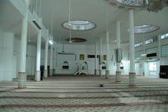 Inre av Abidin Mosque i Kuala Terengganu, Malaysia Royaltyfria Foton