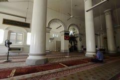 Inre av Abidin Mosque i Kuala Terengganu, Malaysia Royaltyfria Bilder