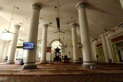 Inre av Abidin Mosque i Kuala Terengganu, Malaysia Fotografering för Bildbyråer